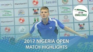 [동영상] ANIMASAHUN Abayomi VS SIPOS Rares 2017 ITTF 도전 나이지리아 오픈 16 강