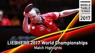 [동영상] 드미트리 오후챠로후 VS 드린 콜 LIEBHERR 2017 세계 탁구 선수권 대회 베스트 64