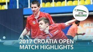 [동영상] 토마스 코넷찌니 · POLANSKY Tomas VS BRODD Viktor · NORDBERG Hampus 2017 ITTF 도전 자그레브 오픈 결승