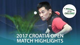[동영상] HABESOHN Daniel VS 코우 레이 2017 ITTF 도전 자그레브 오픈 32 강