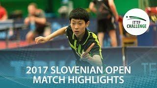 [동영상] CHO Daeseong VS LUSHNIKOV Volodymyr 2017 ITTF 도전, 슬로베니아 오픈