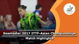 [동영상] 武楊 VS OKTARIYANI Novita 2017 년 ITTF - 아시아 선수권 베스트 64