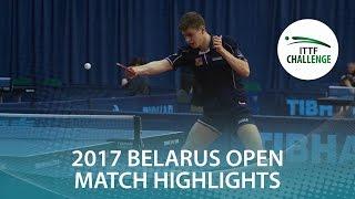 [동영상] 목조 하야토 VS POLANSKY Tomas 2017 년 ITTF 도전, Belgosstrakh 벨라루스 오픈 준결승