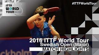 [동영상] 슷찌 VS CHOI Hyojoo 2016 년 스웨덴 오픈 준준결승