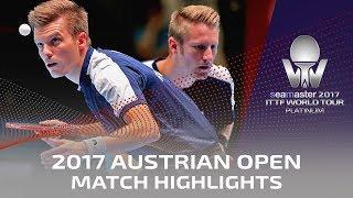 【동영상】 니와 孝希 · 우에다 진 VS 뒤마 · WALTHER Ricardo 2017시 마스터 2017 플래티넘 오스트리아 오픈 결승