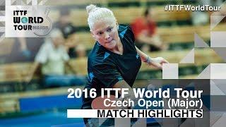 [동영상] EKHOLM Matilda VS POTA Georgina 2016 년 체코 오픈 16 강
