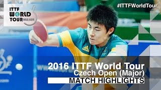 [동영상] 龍崎 東寅 VS HU Heming 2016 년 체코 오픈