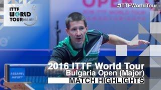 [동영상] ROBINOT Quentin VS 토마스 코넷찌니 2016 년 - Asarel 불가리아 오픈 결승