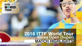 [동영상] 주세혁 VS 타카 瑞基 2016 년 한국 오픈 32 강
