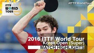 [동영상] 사무엘 워커 VS 타카 瑞基 2016 년 한국 오픈 준결승
