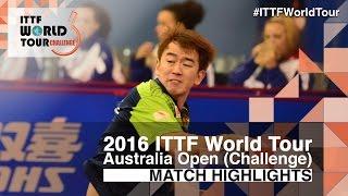 [동영상] 얀 투 VS CHEN Feng 2016 년 호주 오픈 준결승