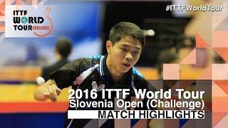 [동영상] SUN Chia-Hung VS KALUZNY Samuel 2016 년 슬로베니아 오픈