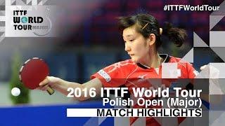 [동영상] ZENG Jian VS 카토 미유 2016 년 폴란드 오픈 결승