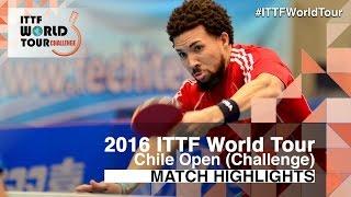[동영상] HACHARD Antoine VS PEREIRA Andy 2016 년 칠레 오픈 준준결승