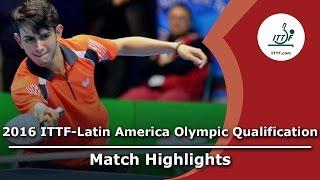 [동영상] LAMADRID Juan VS AFANADOR Brian 2016 년 ITTF - 라틴 아메리카의 올림픽 예선 토너먼트 준결승