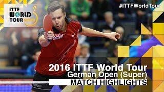 [동영상] 荘智淵 VS 블라디미르 삼소노프 2016 년 독일 오픈 준결승