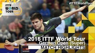 [동영상] 荘智淵 VS 드미트리 오후챠로후 2016 년 독일 오픈 준준결승