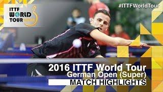 [동영상] 티아고 아폴로니아 VS 블라디미르 삼소노프 2016 년 독일 오픈 32 강