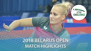 【동영상】BALAZOVA Barbora VS SHIBATA Saki 2018 Challenge 벨로루시 오픈 준준결승
