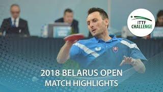 【동영상】PISTEJ Lubomir VS HACHARD Antoine 2018 Challenge 벨로루시 오픈 베스트16