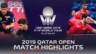 【동영상】티모 볼・FRANZISKA Patrick VS FLORE Tristan・LEBESSON Emmanuel 2019 ITTF 월드 투어 플래티넘 카타르 오픈 베스트16