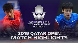 【동영상】XUE Fei VS YOSHIDA Masaki 2019 ITTF 월드 투어 플래티넘 카타르 오픈 베스트64