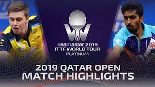 【동영상】MOREGARD Truls VS GNANASEKARAN Sathiyan 2019 ITTF 월드 투어 플래티넘 카타르 오픈 베스트128