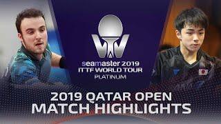 【동영상】시몽 고지 VS KIZUKURI Yuto 2019 ITTF 월드 투어 플래티넘 카타르 오픈 베스트128