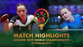 【동영상】TODOROVIC Andrea VS RILISKYTE Kornelija 2019 세계 탁구 선수권 대회