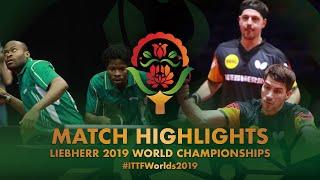 【동영상】콰드리 아루나・OMOTAYO Olajide VS 티모 볼・FRANZISKA Patrick 2019 세계 탁구 선수권 대회 베스트64