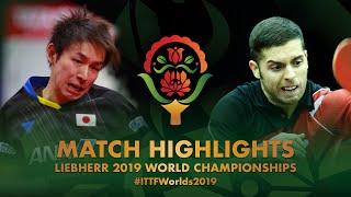 【동영상】니와 코키 VS AGUIRRE Marcelo 2019 세계 탁구 선수권 대회 베스트128