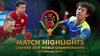 【동영상】리앙징쿤・LIN Gaoyuan VS PLATONOV Pavel・블라디미르 삼소노프 2019 세계 탁구 선수권 대회 베스트32