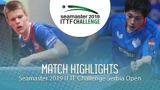 【동영상】YUMA Tsuboi VS TEPIC Pero 2019 ITTF 도전 세르비아 오픈