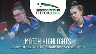 【동영상】GUISNEL Oceane VS SHADRINA Daria 2019 ITTF 도전 세르비아 오픈