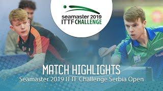 【동영상】JARVIS Tom VS CVETKO Tilen 2019 ITTF 도전 세르비아 오픈