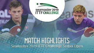 【동영상】RASMUSSEN Tobias VS ORAC Daniel 2019 ITTF 도전 세르비아 오픈