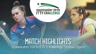 【동영상】SHADRINA Daria VS SAHASRABUDHE Pooja 2019 ITTF 도전 세르비아 오픈