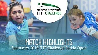 【동영상】KHUSSEINOVA Gulchekhra VS JOKIC Tijana 2019 ITTF 도전 세르비아 오픈