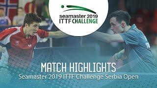 【동영상】KLEIN Dennis VS ZELINKA Jakub 2019 ITTF 도전 세르비아 오픈