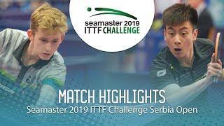 【동영상】MEISSNER Cedric VS CHEN Shuainan 2019 ITTF 도전 세르비아 오픈 베스트32