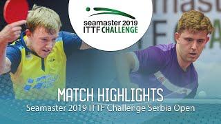 【동영상】RASMUSSEN Tobias VS RANEFUR Elias 2019 ITTF 도전 세르비아 오픈 베스트64