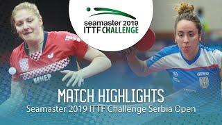 【동영상】PETEK Petra VS LUPULESKU Izabela 2019 ITTF 도전 세르비아 오픈 베스트64