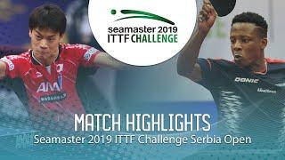 【동영상】YOSHIDA Masaki VS SALIFOU Abdel-Kader 2019 ITTF 도전 세르비아 오픈 베스트64