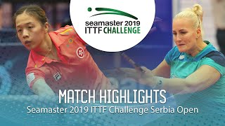 【동영상】ZHANG Wenjing VS BALAZOVA Barbora 2019 ITTF 도전 세르비아 오픈 베스트16