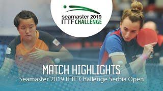 【동영상】MALANINA Maria VS MAK Tze Wing 2019 ITTF 도전 세르비아 오픈 결승