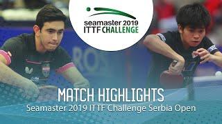【동영상】AFANADOR Brian VS YUTA Tanaka 2019 ITTF 도전 세르비아 오픈 준준결승