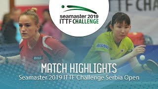 【동영상】HAYATA Hina VS PERGEL Szandra 2019 ITTF 도전 세르비아 오픈 준준결승