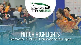 【동영상】NG Wing Nam・SOO Wai Yam Minnie VS 갈리아 드보락・ZHANG Xuan 2019 ITTF 도전 세르비아 오픈 준결승