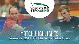 【동영상】폴 드린크홀 VS LANDRIEU Andrea 2019 ITTF 도전 세르비아 오픈 준결승