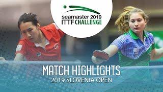 【동영상】ZHU Chengzhu VS PAULIN Lea 2019 ITTF 도전 슬로베니아 열기
